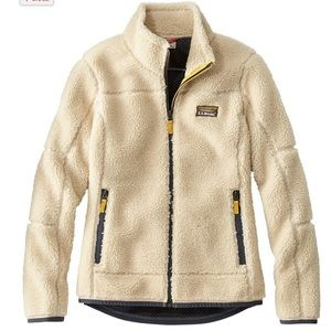 LL Bean Mountain Pile Fleece Jacket Size M